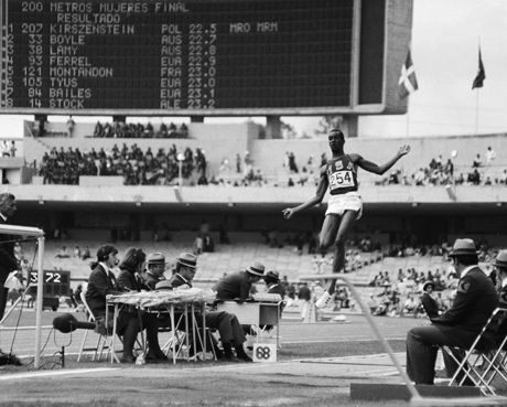"""On This Date (1968).....Bob Beamon set the World & Olympic Records For the Long Jump at The 1968 Mexico City Olympics by outdistancing the Mark By ALMOST 2 Feet (29' 2 1/4""""). Mexico City is above Sea Level but The Olympic Record Still Stands. The World Record remained for 22 years, 316 days until it was broken in1991 by Mike Powell."""