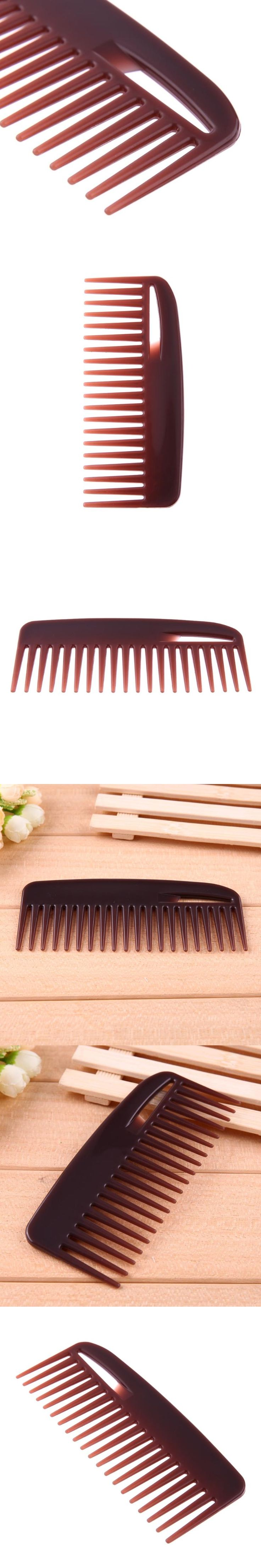 Large Wide Teeth Comb Flat Plastic Wavy Hair Comb Hairstyling Combs Hair Care Professional hairdressing tools