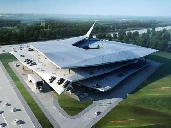 3Gatti's design for a new Automobile Museum in Nanjing