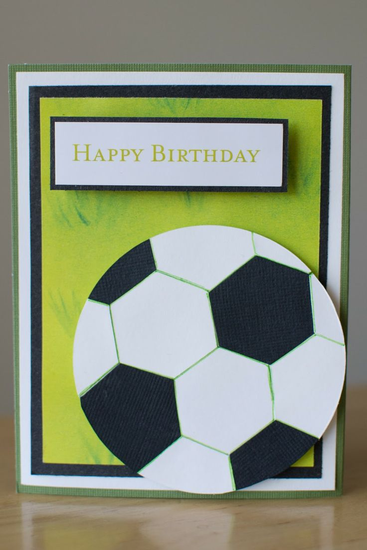 Left handed soccer card.