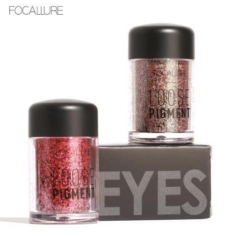 FOCALLURE 12 Colors Glitter Eye Shadow Cosmetic Makeup Diamond Lips Loose Makeup Eyes Pigment Powder Woman Cosmetics Make Up New