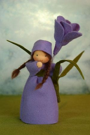 Crocus Flower Child Waldorf Inspired by KatjasFlowerfairys