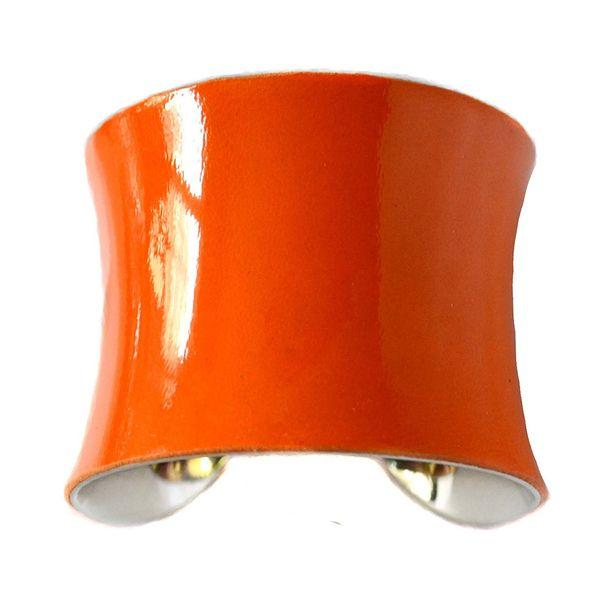 Signature Cuff Patent Orange