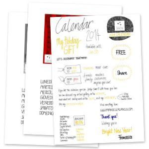 "calendario 2014 francesca lancisi free calendar download.. click on ""English Version"" I think it is gorgeous work modern"