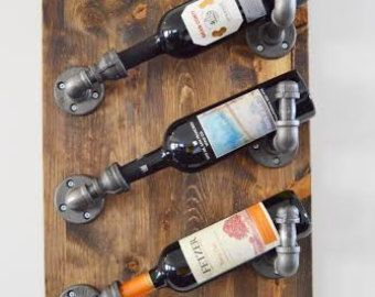 Industrial Wine Rack Made With Plumbing Pipe: