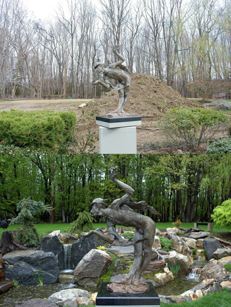 Transformation by TRD Designs, Ltd. in Katonah, NY. | Before and After | Water features, Waterfall, Pond