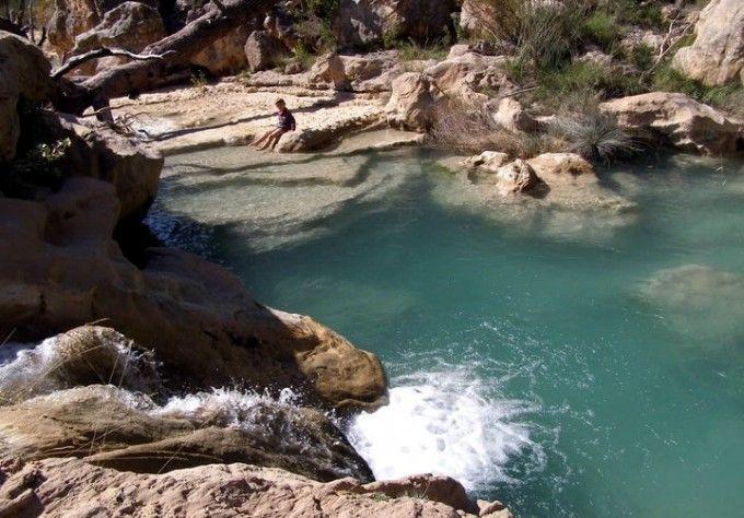 Piscina natural de Las Chorreras en Enguídanos, Cuenca (236km Madrid / 84km (1h) Cuenca)