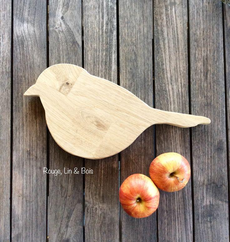 Dessous de plat oiseau accessoire de cuisine en bois de chêne : Cuisine et service de table par rouge-lin-et-bois