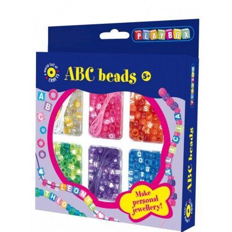 Gioco creativo giocattolo set kit bijoux con perline abc