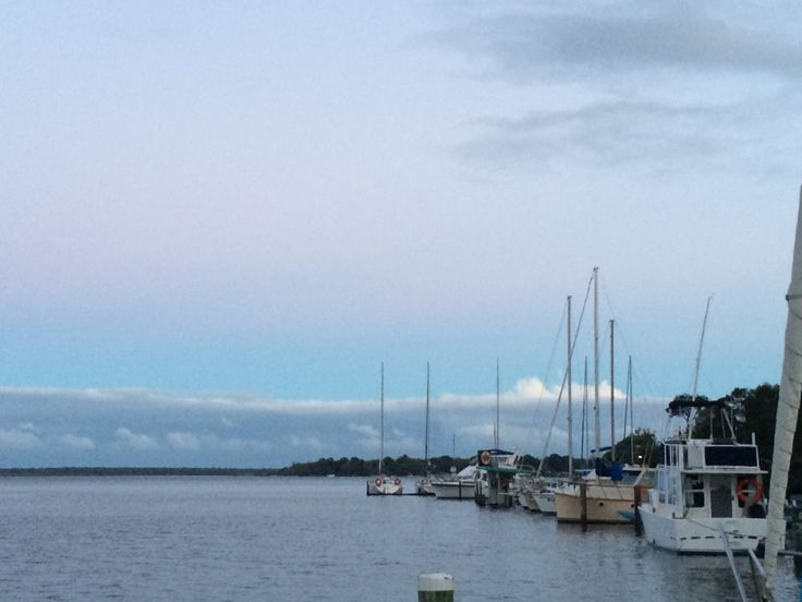 A peaceful winter sunset at Metung, Victoria