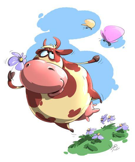 Корова рисунок смешной, анимация яблочко картинки
