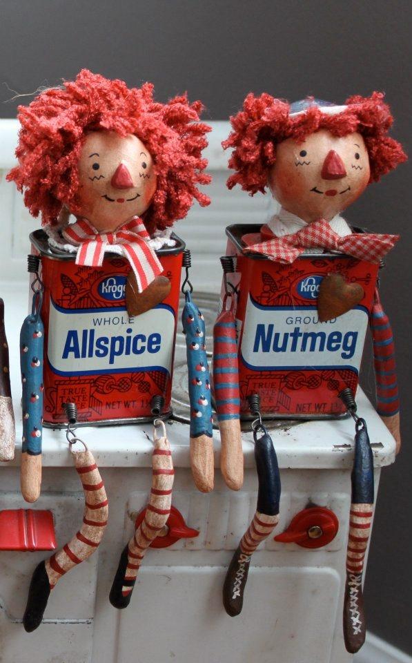 Raggedy Ann & Raggedy Andy, handmade USA, Kathy's Holiday