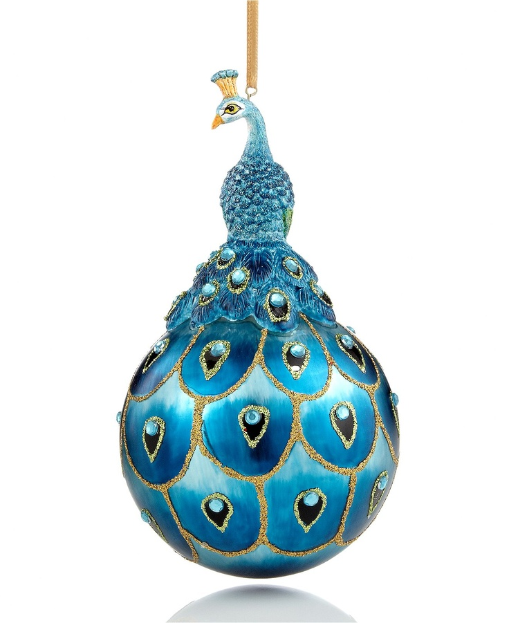 Holiday lane christmas ornament peacock holiday lane for Christmas decorations clearance