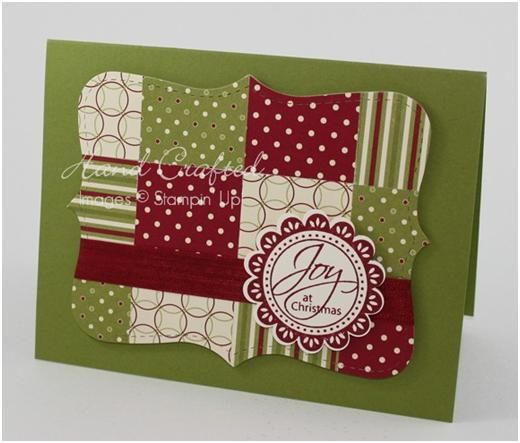 Perfect Punches. Patterned Paper. Technique Time: Quilted Top Note | Josee Smuck-Stampin' Up!