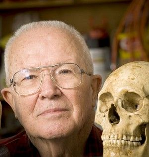 Dr. Bass, founder of the Body Farm, at the University of TN. They study decaying bodies of all types in all conditions to help determine the time of death for crime investigators.