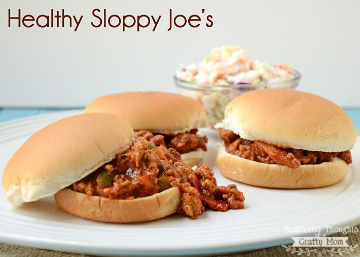 My kids love Sloppy Joe's. I have a great recipe from Weight Watchers I like to use. It's so yummy, but you would never know it was weight watchers unless I told you… Healthy Sloppy Joe's Ingredients: 1 lbs uncooked very lean ground beef 1/8 cup packed brown sugar 1.5 cups of canned tomato sauce …