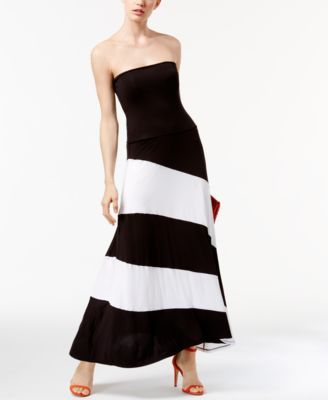 INC International Concepts Convertible Maxi Skirt, Only at Macy's $54.99 INC International Concepts' seriously chic colorblocked maxi skirt converts to a playful strapless dress for the ultimate in versatile fashion.