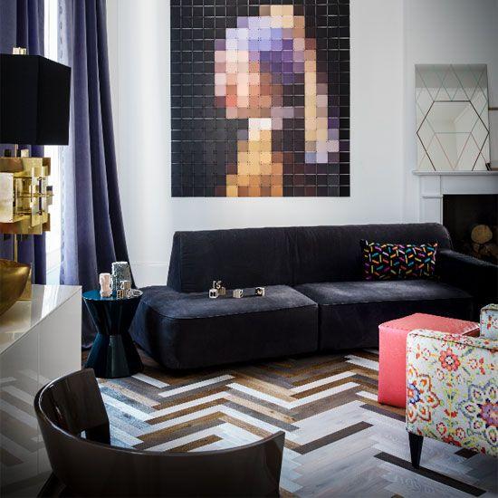 Statement Flooring Living Room