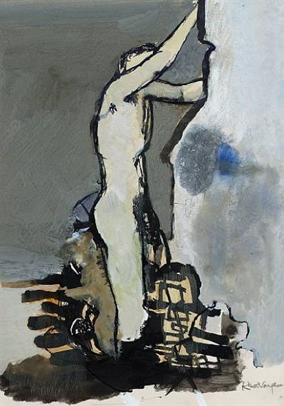 Keith Vaughan, Bather Climbing Rocks