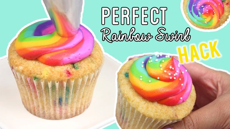 I love this video tutorial showing you how to pipe amazing rainbow frosting onto cupcakes these fun cupcakes will be great for any party ..  also there is a recipe...