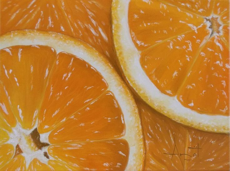 Orange Oil on canvas 30cm x 23cm SOLD