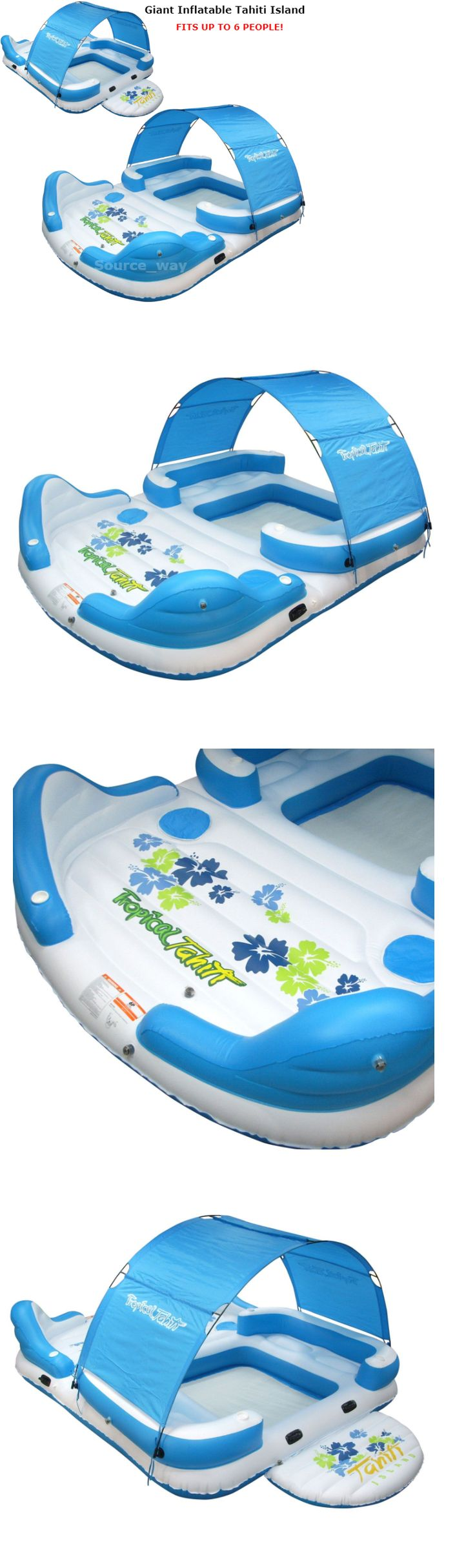 Bestway Coolerz X5 Seven Person Floating Canopy Island Seat - Floats and rafts 181055 new giant inflatable 6 person floating canopy island pool lake party