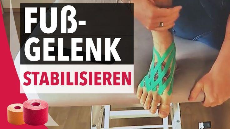 Fußgelenk Stabilisieren - Taping Fußgelenk  - Kinesiology Tape Anleitung für den Fuß