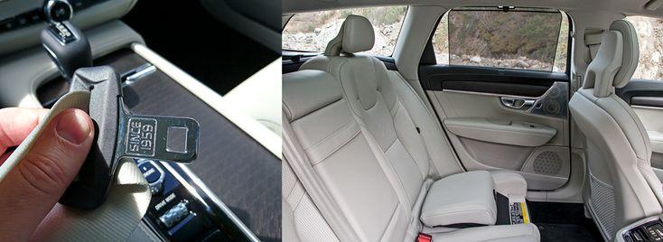 Ремни безопасности впервые появились не на Volvo, но шведы были пионерами трёхточечной схемы. Креплений Isofix на заднем сидений всего два комплекта, зато можно заказать встроенные бустеры и дистанционное управление детской блокировкой замков.