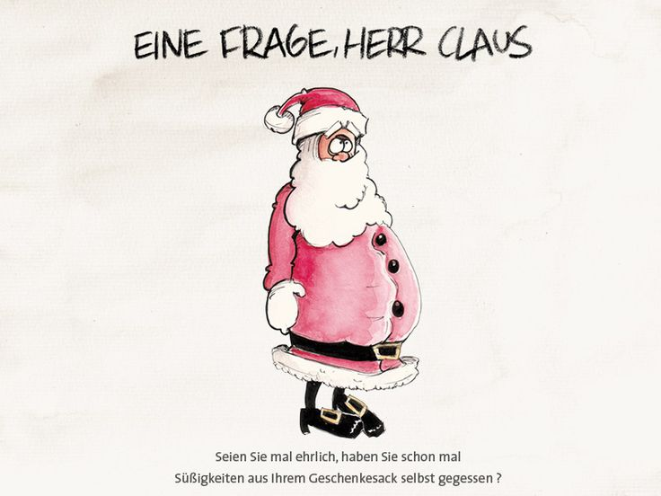 Fragen an Claus. www.gezeichnet.com #cartoon #illustration #graphic #handdrawn #aquarell