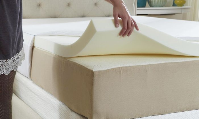 Nature's Sleep HD Visco Memory-Foam Mattress Topper with Cover | Groupon
