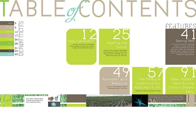 table of contents design 2