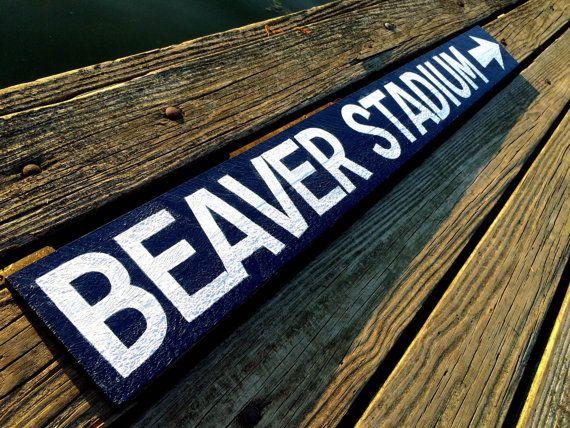Beaver Stadium sign Penn State sign Penn State Decor by SignUpNow