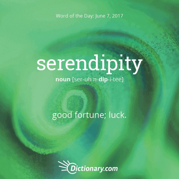 Today's Word of the Day is serendipity. #wordoftheday #language #vocabulary