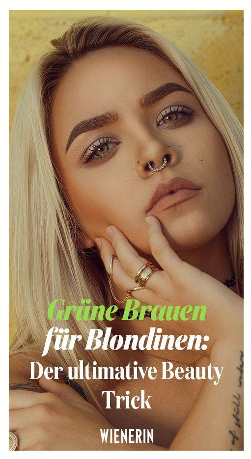 Grüne Brauen Für Blondinen Der Ultimative Beauty Trick Blonde