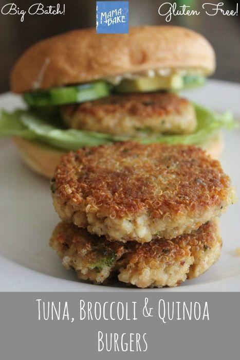 Tuna, Broccoli and Quinoa Burgers: Gluten Free | Big Batch recipe!