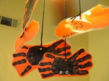 handprint spider letter s recognition ceres childcare preschool