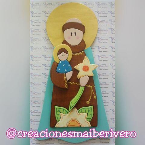 San Antonio de Padua (encargo) #MDF #madera #estilopropio #talentovenezolano #pintadoamano #hechoenvenezuela #santos #detallealmaximo #creacionesmaiberivero #Valera #Venezuela #decoracion #sanantonio #woodstyle #wood #catholic #saints #delicado