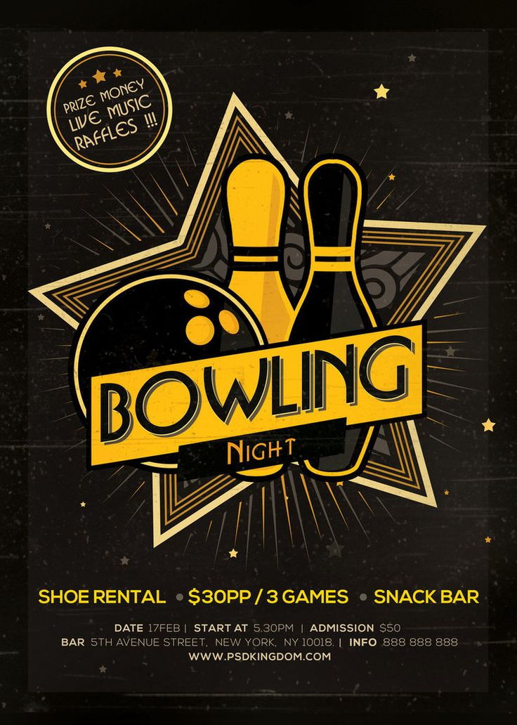 Bowling Flyer Template Free Eliolera – Bowling Flyer Template
