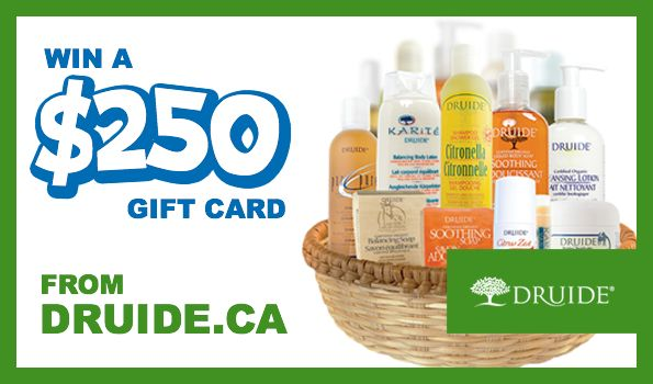 Bargainmoose Contest: Win a $250 Gift Card For Druide.ca, the Natural Skincare Store!