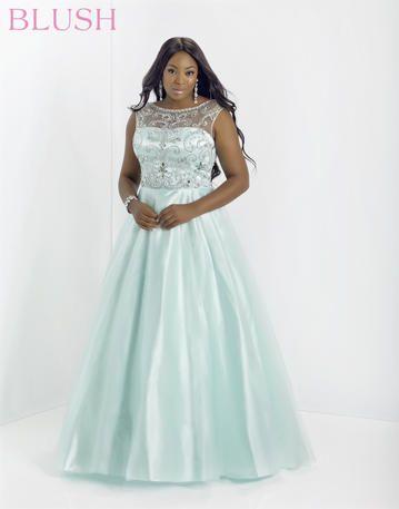 Blush W Plus size Prom Dress 5335W @Giselle Prom #prom2014 #promdress
