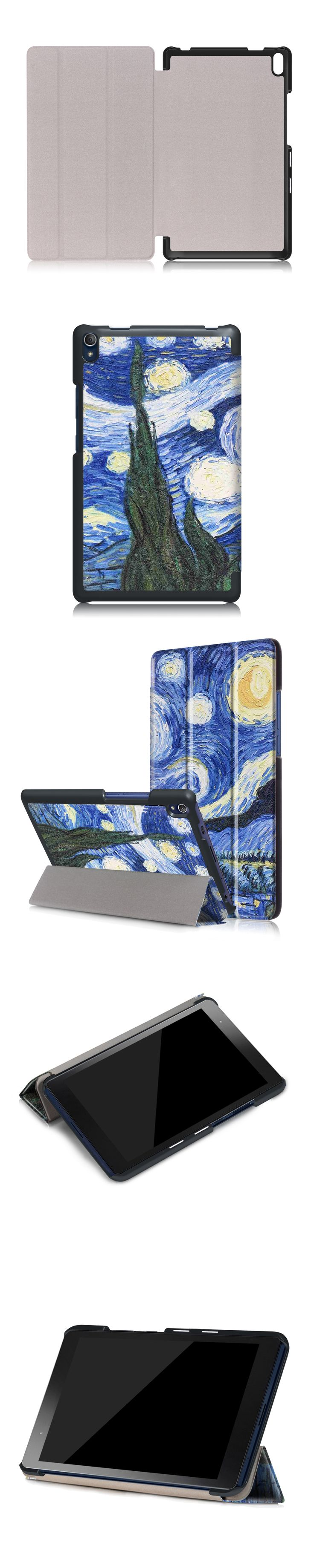 PU Leather Protective Case for Lenovo Tab3 8 Plus TB 8703F 8 inch