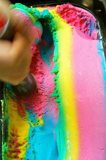 rainbow ice cream,, yummyyyyyy