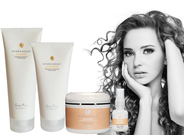 GRH Hydro Boost Range - Shampoo, Conditioner, Treatment and Silk Gloss in salon treatment #GaryRomHaircare