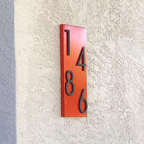 Modern Address Plaque & Aluminum Numbers in 2020 | Mid ...