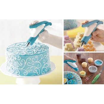 High quality Dessert DIY Cream Cake Making Flowers Crowded Mouth Icing Nozzles Pastry Bag Decorating Sets Kitchen Tools