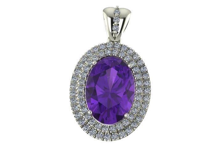 Oro ametista diamanti