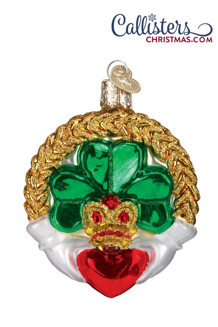 Claddagh Ornament in 2020 Old world christmas ornaments