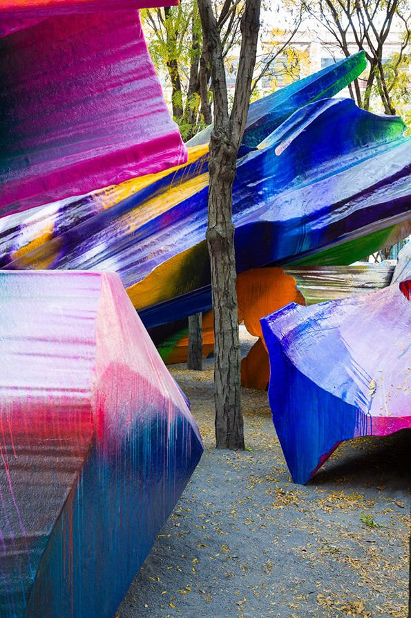 Art: Katharina Grosse's eye-popping installation takes over Brooklyn park