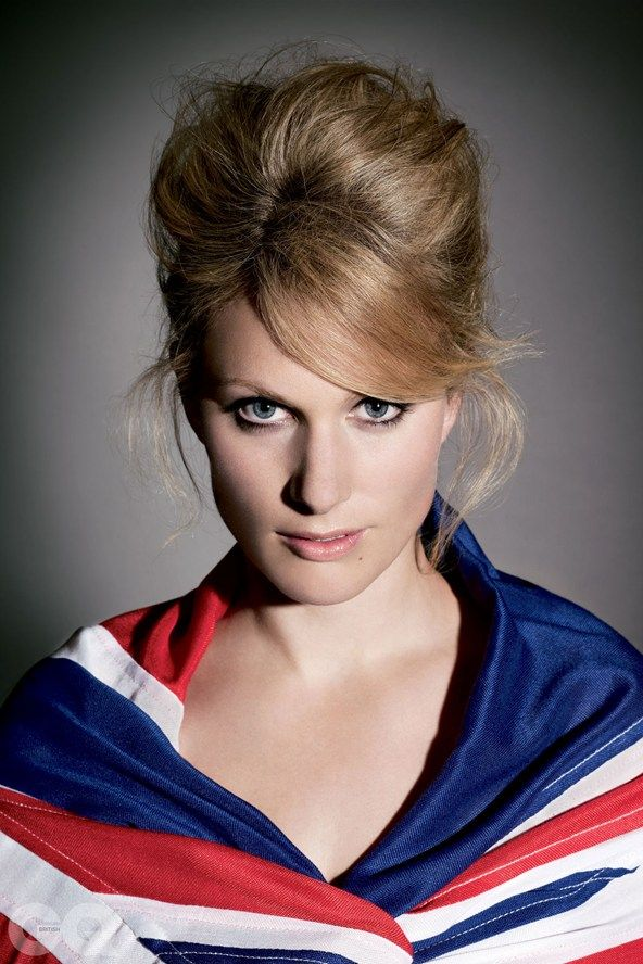 "Zara Phillips.  Wow, what a knockout!   We usually see her without makeup and with ""helmet hair"" from her riding helmet."