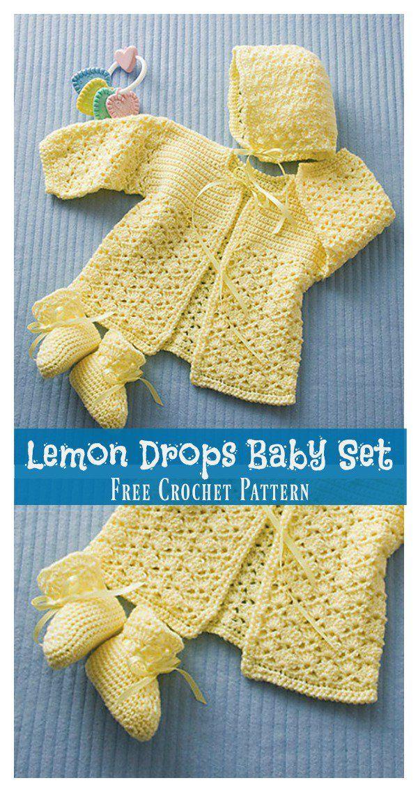 Lemon Drops Baby Set Free Crochet Pattern Baby Crochet Pinterest